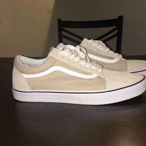 3f61a0aacc2db1 Vans Shoes - Cream Colored Old Skool Vans — OG Box Included
